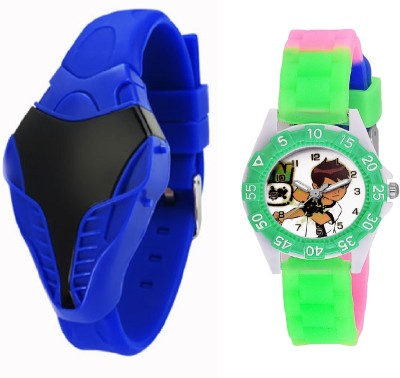COSMIC DESINGER AND FANCY KITTY CARTOON PRINTED ON TINNY DIAL KIDS & CHILDREN Watch  - For Boys & Girls
