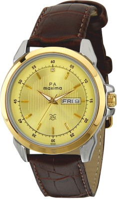 Maxima 26340LMGT Analog Gold Dial Men's Watch