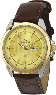 Maxima Analog Gold Dial Men's Watch, 26340LMGT