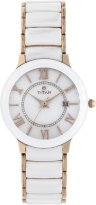 Titan 95016WD02 Analog Watch - For Women