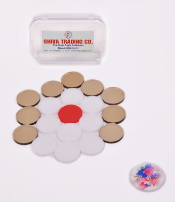 SRC STC ACRYLIC CARROM COINS 3 cm Carrom Board(Multicolor)  available at flipkart for Rs.199