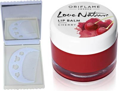 Oriflame Sweden Love Nature Lip Balm - Cherry 7g (31076) With Comb Mirror Set(Set of 3)  available at flipkart for Rs.329