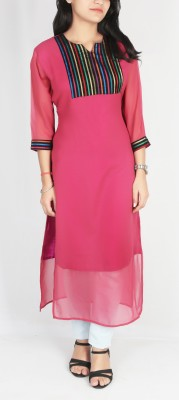 GOMANI Women Striped Straight Kurta(Multicolor)