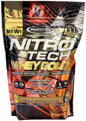 Muscletech Performance Series Nitrotech 100% Whey Gold Whey Protein(454 g, Double Rich Chocolate)