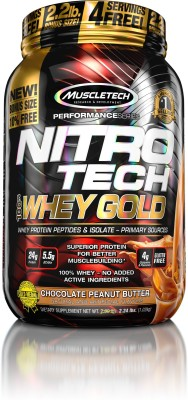 Muscletech Performance Series Nitrotech 100% Whey Gold Whey Protein(1.02 kg, Chocolate Peanut Butter)