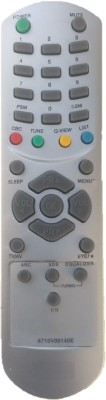 lipiworld 6710V00140E Universal Remote Control Compatible For  CRT TV LG Remote Controller(Gray)