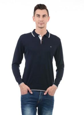 Monte Carlo Solid Men Polo Neck Dark Blue T-Shirt Flipkart