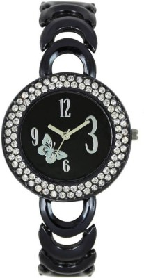 piu collection PC_Black Metal Analog stylish watch Watch  - For Girls   Watches  (piu collection)