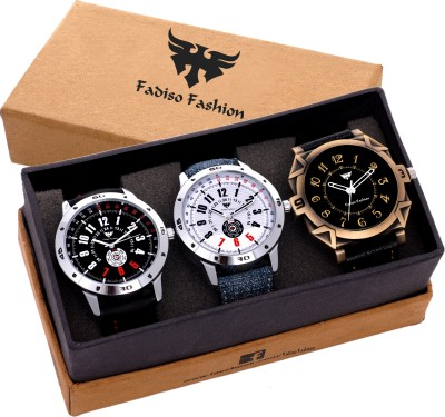 Fadiso fashion FF-08010-Gents Exclusive (Casual+PartyWear+Formal) Designer Combo Watch  - For Men