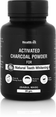 HealthVit Healthvit Activated Charcoal Powder for Natural Teeth Whitening(20 g)