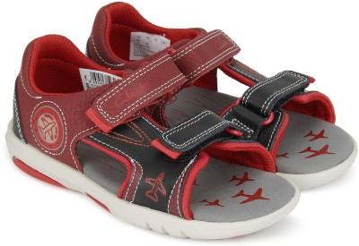 47f02bd551f2c0 50% OFF on Clarks Boys Velcro Strappy Sandals(Maroon) on Flipkart ...