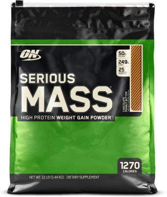 Optimum Nutrition Serious Mass Weight Gainers/Mass Gainers(5.44 kg, Chocolate Peanut Butter)  available at flipkart for Rs.4670