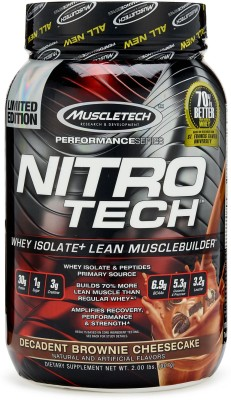 Muscletech Performance Series Nitrotech Whey Protein(907 g, Decadent Brownie Cheesecake)