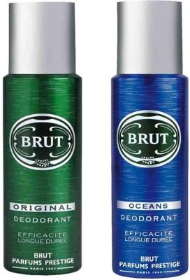 Brut Original and Ocean Deodorant Spray Pack of 2 Combo (200ML each) Deodorant Spray  -  For Men(400 ml, Pack of 2)  available at flipkart for Rs.539