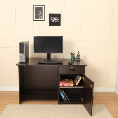 @home by Nilkamal Dalton Engineered Wood Study Table(Free Standing, Finish Color - Walnut)