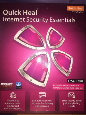 Quick Heal Internet Security Essentials 3PC/1Year  available at flipkart for Rs.1350