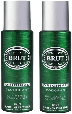 Brut Original Deodorant Spray Pack of 2 Combo (200ML each) Deodorant Spray  -  For Men(400 ml, Pack of 2)  available at flipkart for Rs.550