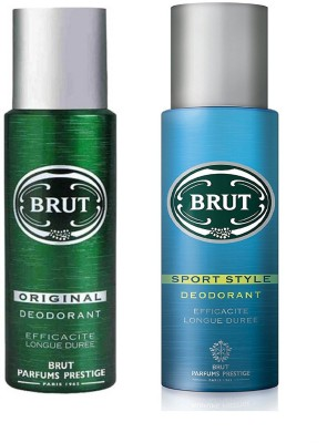 Brut Original and Sport Style Deodorant Spray Pack of 2 Combo (200ML each) Deodorant Spray  -  For Men(400 ml, Pack of 2)  available at flipkart for Rs.539