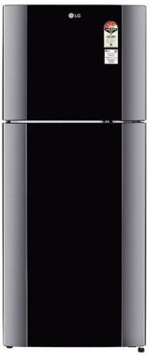 LG GL-I452TDBL 407 L 4 Star Frost Free Double Door Refrigerator, Diamond Black