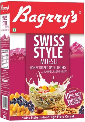 Bagrry's Swiss Style Muesli(500 g, Box)  available at flipkart for Rs.290