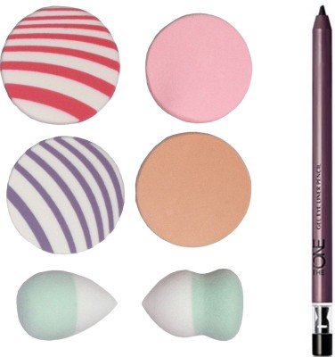 Oriflame Sweden The ONE Gel Eye Liner Pencil 0.5g ( Black - 32091 ) With Puff Sponge(Set of 7)  available at flipkart for Rs.399