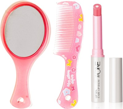 Oriflame Sweden The ONE Lip Spa Care Lip Balm 1.7g ( Natural Pink - 31443 ) With Mirror & Comb Set(Set of 3)  available at flipkart for Rs.340