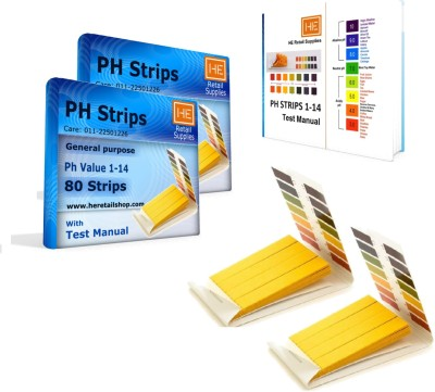 He Retail Supplies HE_457_phstrips_160_2pc Ph Test Strip(1 - 14)  available at flipkart for Rs.240