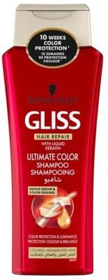 Schwarzkopf Gliss Hair Repair With Liquid Keratin Ultimate Color Shampoo(400 ml) Flipkart