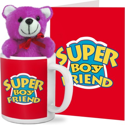 88cd79b7710f1 42% OFF on Tied Ribbons Valentines Day Best Gifts for Boyfriend Coffee Mug  with Teddy and Greeting Card Mug Gift Set on Flipkart