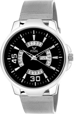 Fogg 2044-BK Day And Date Analog Watch For Men