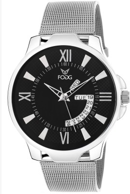Fogg 2043-BK Day And Date Analog Watch For Men