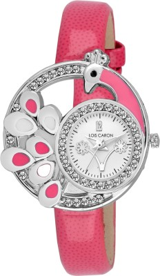 Lois Caron LCS-4636 PINK DIAL Watch  - For Girls