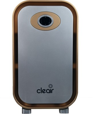 CleAir Mini Air Purifier - 180 Sq. Ft., CADR 134.5 m3/hr - with 4-Level HEPA Filter for Home, Office - Filters 99% PM2.5 (1h), Bacteria 99.99% (1h) - with Timer (Gold, Silver) Portable Room Air Purifi at flipkart