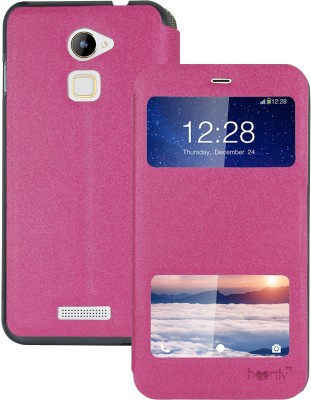 Heartly Flip Cover for Coolpad Note 3 LITE(Pink, Artificial Leather)
