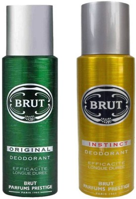 Brut Original and Instinct Deodorant Spray Pack of 2 Combo (200ML each) Deodorant Spray  -  For Men(400 ml, Pack of 2)  available at flipkart for Rs.539