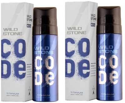 Wild Stone Code Titanium Perfume Body Spray Pack of 2 Combo (120ML each) Perfume Body Spray  -  For Men(240 ml, Pack of 2)
