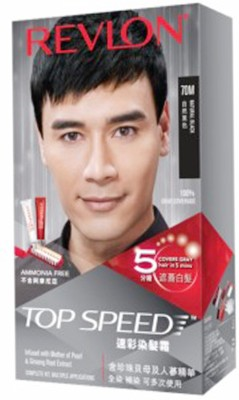 Revlon Top Speed 70 M Hair Color, Natural Black
