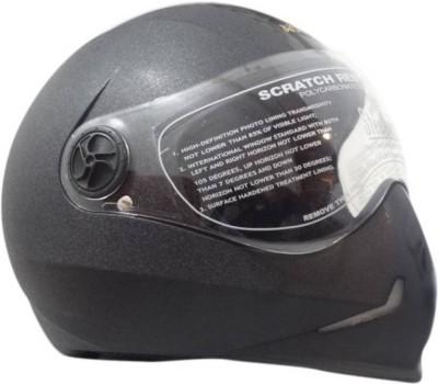Steelbird Steel bird Adonis Dashing Motorbikes Black Motorbike Helmet(Black)  available at flipkart for Rs.815