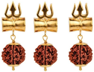 S.Blaze Combo of 3 Amazing 8 Mukhi/Faced Rudraksha Pendant, Indonesia/ Java Originated, (Bead Size: 10-14mm) With Silver Coated Capping | 100% Original & Natural Rudrakash | Wood Pendant Yellow Gold Beads Wood Pendant pack of 3 Yellow Gold Beads Wood Pendant  available at flipkart for Rs.501