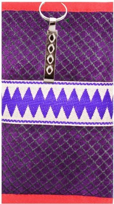 53a466dc6ad Bagaholics Ethnic Raw Silk Saree Clutch Mobile Pouch Waist Clip Ladies  Purse Gift For Women Mobile Pouch(Purple)