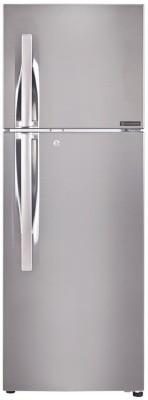 LG 255 L Frost Free Double Door 3 Star Refrigerator(Shiny Steel, GL-F282RPZY)