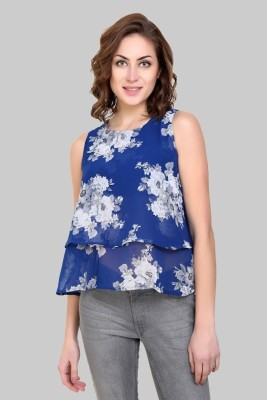 Crease & Clips Casual Sleeveless Floral Print Women