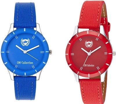 Om collection Analog Girls watch combo red and Blue combo _omwt-31(Set of 2) OMWT Watch  - For Girls   Watches  (OM Collection)
