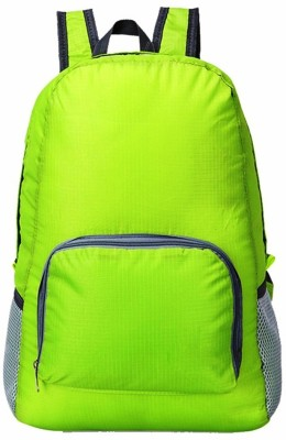 GOCART Polyester Waterproof Foldable Backpack Hiking Bag Outdoor Sports Bicycle Camping bag Mountaineering Climbing Travel Green bag Waterproof Backpack(Green, 5 L)  available at flipkart for Rs.339