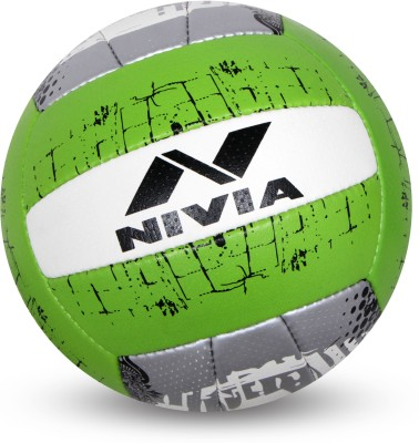 Nivia PU - 5000 Volleyball - Size: 4(Pack of 1, White, Green)  available at flipkart for Rs.496