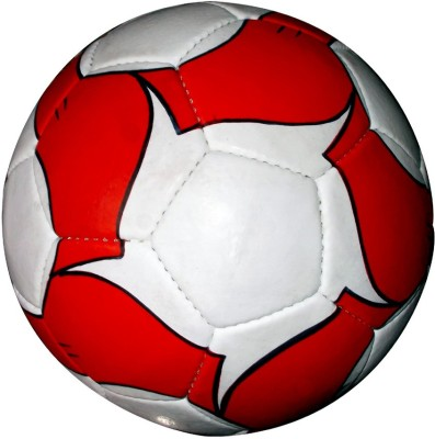 IP RED WITH BLACK Football   Size: 5 Pack of 1, Red, White IP Footballs