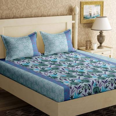 Bella Casa Cotton Floral Double Bedsheet