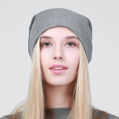 b9897e529ff5c View HOZIE Fashionable And Trendy Look Grey Beanie Stretchable Cap Cap  Price Online