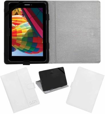 ACM Flip Cover for Iball Slide 3g 7271i(White, Cases with Holder)