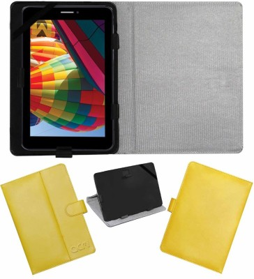 ACM Flip Cover for Iball Slide 7271 Hd-7 & Hd-70(Yellow, Cases with Holder)